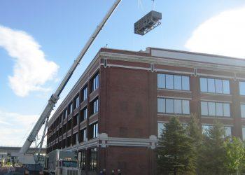 Chiller being installed at Hosting.com