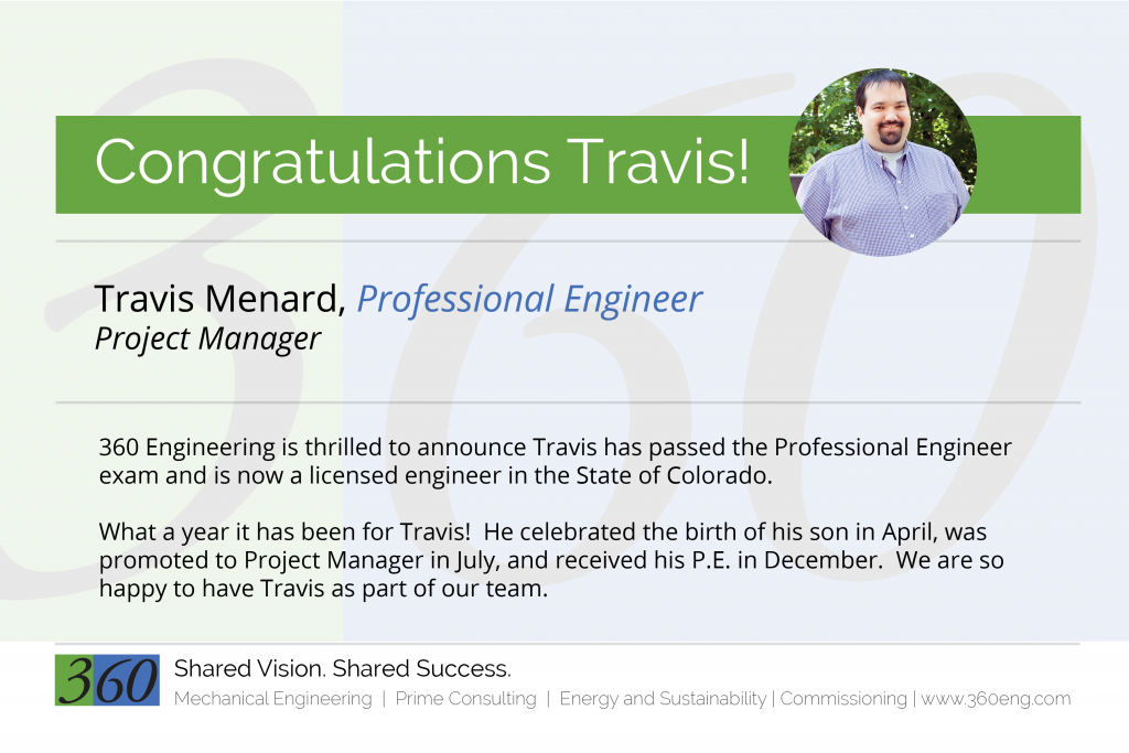 our newest professional engineer 360 engineering inc